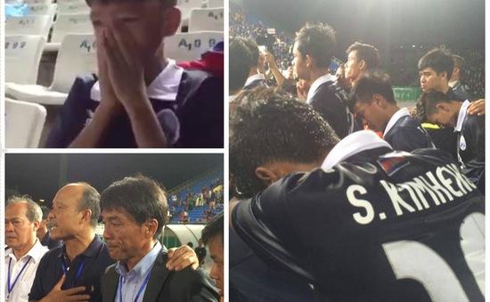 Thua U16 Việt Nam, cầu thủ, HLV và CĐV Campuchia khóc như mưa