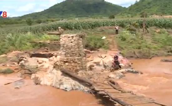 Đăk Lăk hỗ trợ  dân 100 triệu đồng xây cầu vừa bị sập