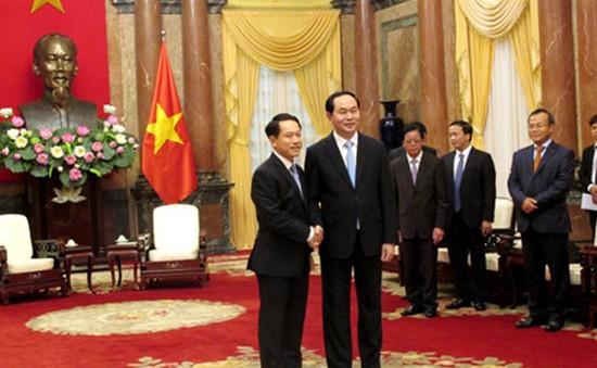 Chủ tịch nước Trần Đại Quang tiếp Bộ trưởng Ngoại giao Lào