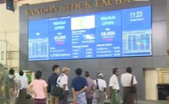 Thị trường chứng khoán Myanmar biến động mạnh