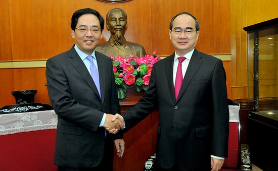Chủ tịch UBTƯMTTQVN tiếp Đại sứ Trung Quốc tại Việt Nam