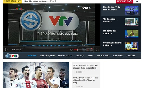 VTV News và Ban Thể thao VTV ra mắt chuyên trang thể thao với nhiều tính năng mới