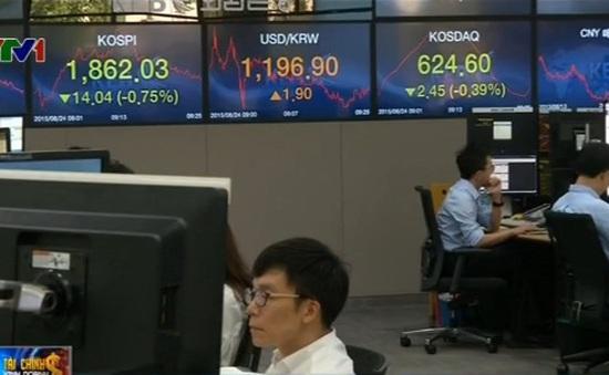 """Nghi ngờ sự ổn định kinh tế toàn cầu, TTCK """"chìm"""" trong sắc đỏ"""