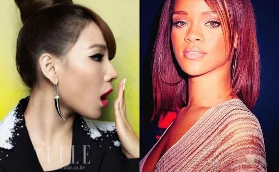 Thành viên nhóm 2NE1 bất ngờ nhận quà từ Rihanna