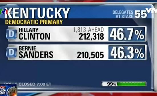 Bầu cử Tổng thống Mỹ: Bà Clinton giành chiến thắng tại bang Kentucky