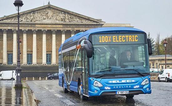 Khai trương tuyến xe bus điện 100% đầu tiên tại Pháp