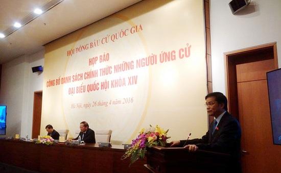 870 người chính thức ứng cử Đại biểu Quốc hội khóa XIV