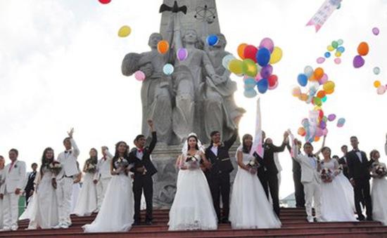 Lần đầu tiên tổ chức lễ cưới tập thể cho thanh niên ĐBSCL