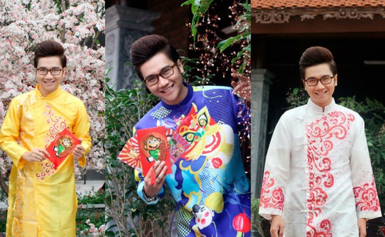 Công Tố khoe vẻ điển trai với áo dài truyền thống