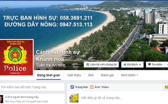 Người dân Khánh Hòa truy cập Facebook tố giác tội phạm