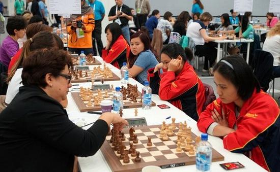 Cờ vua nữ Việt Nam tiếp tục dẫn đầu tại giải đồng đội châu Á 2016