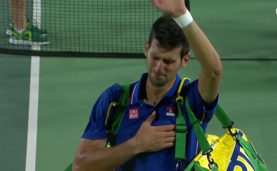 Djokovic bật khóc sau thất bại ở vòng 1 Olympic Rio 2016