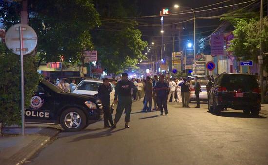 Campuchia: Ném lựu đạn ngay giữa thủ đô, 3 người bị thương nặng