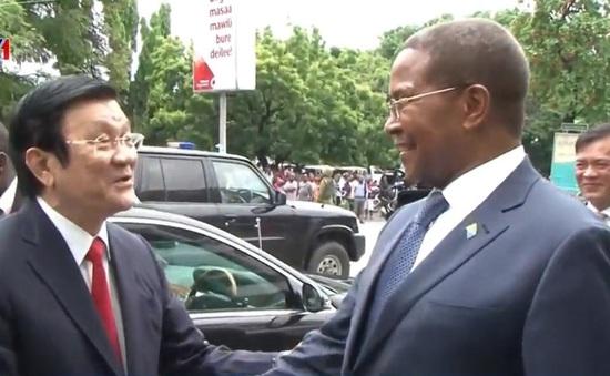 Chủ tịch nước Trương Tấn Sang hội kiến Chủ tịch Đảng Tanzania