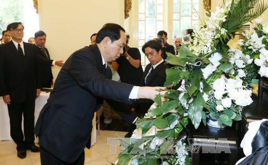 Chủ tịch nước viếng Nhà Vua Thái Lan Bhumibol Adulyadej