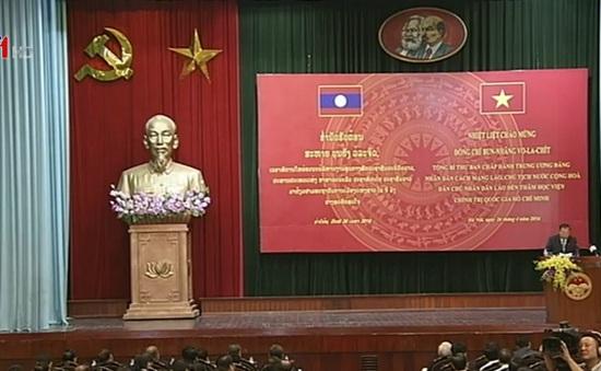 Tổng Bí thư, Chủ tịch nước Lào phát biểu tại Học viện Chính trị Quốc gia Hồ Chí Minh