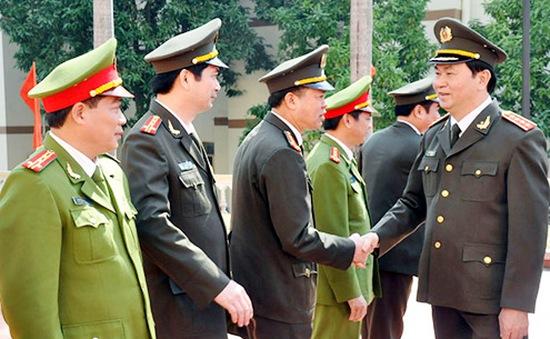 Đại tướng Trần Đại Quang thăm và làm việc với Công an tỉnh Quảng Ninh