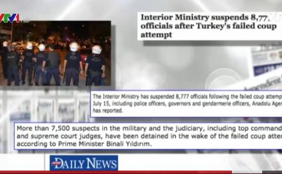 """Thổ Nhĩ Kỳ sau cuộc đảo chính bất thành - Chủ đề """"nóng"""" của báo chí quốc tế"""