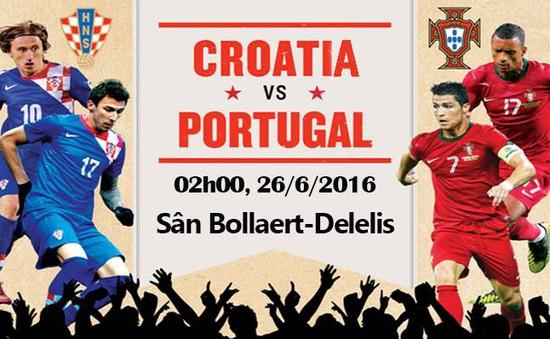 EURO 2016, Croatia – Bồ Đào Nha: Tiếp nối bất ngờ (2h00 ngày 26/6 trên VTV3 & VTV3HD)