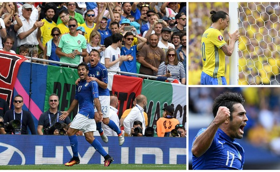 VIDEO EURO 2016, Italy 1-0 Thụy Điển: Điểm sáng Eder, nỗi thất vọng Ibrahimovic