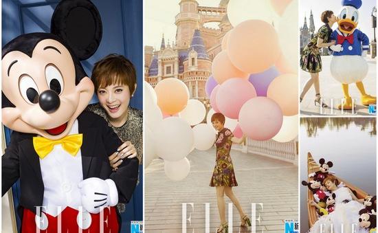 """Tôn Lệ """"hồi teen"""" trong thế giới Disney"""