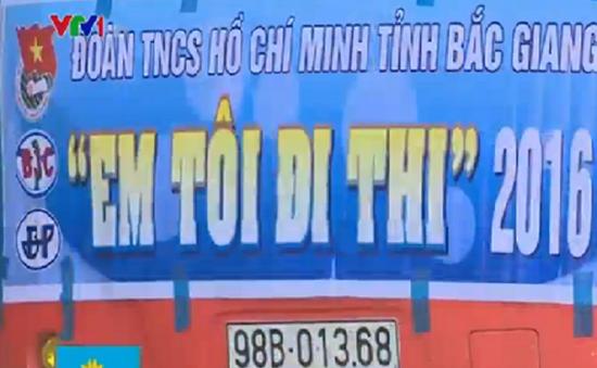 """Bắc Giang: Đoàn xe nghĩa tình """"Em tôi đi thi"""" hỗ trợ thí sinh khó khăn"""