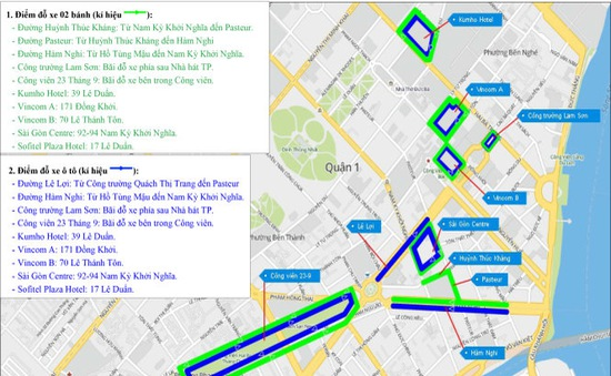 Cấm lưu thông nhiều tuyến đường ở trung tâm TP.HCM ngày 2/9