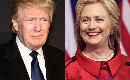 Bầu cử Tổng thống Mỹ: Bà Hillary Clinton dẫn trước ở nhiều bang