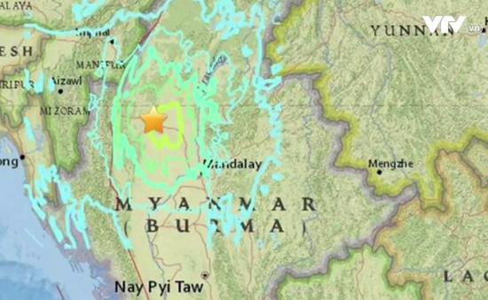 Động đất mạnh 6,8 độ Richter làm rung chuyển miền Trung Myanmar