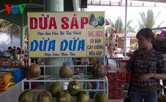 Trà Vinh: Dừa sáp 200.000 đồng/quả vẫn không đủ bán