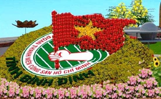 Đường hoa Tết Bính Thân 2016 chủ đề biển đảo tại Bình Định