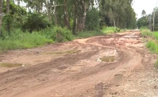 Long An: Người dân khổ vì đường lấm lem bùn đất