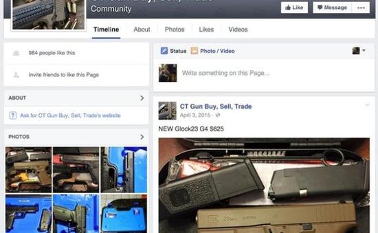 Facebook cấm rao bán súng trên mạng xã hội