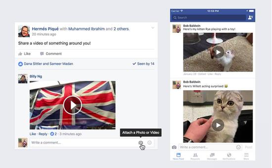 Facebook chính thức cập nhật tính năng chèn video vào comment