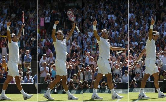 Wimbledon 2016: Ngược dòng ngoạn mục trước Cilic, Federer tạo kỷ lục vĩ đại