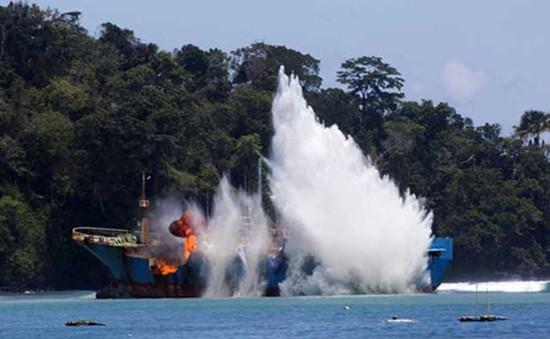 Indonesia đánh chìm nhiều tàu cá nước ngoài