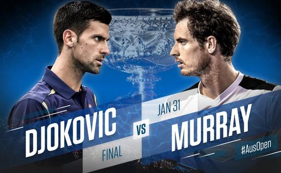 Chung kết Australian Open 2016: Murray mơ thoát kiếp nợ Djokovic (15h30, TTTV)