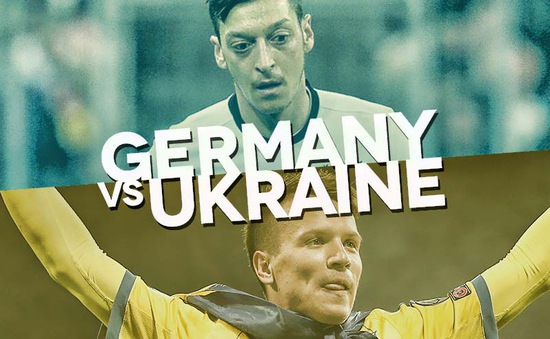 Lịch tường thuật trực tiếp EURO 2016 đêm 12/6 và sáng 13/6: ĐKVĐ thế giới Đức gặp Ukraine