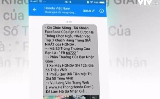 Khách hàng liên tục bị web giả mạo Honda Việt Nam lừa trúng thưởng