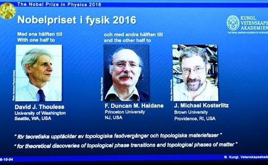Giải Nobel Vật lý 2016 mở ra hy vọng tìm kiếm các dạng biến đổi mới của vật chất