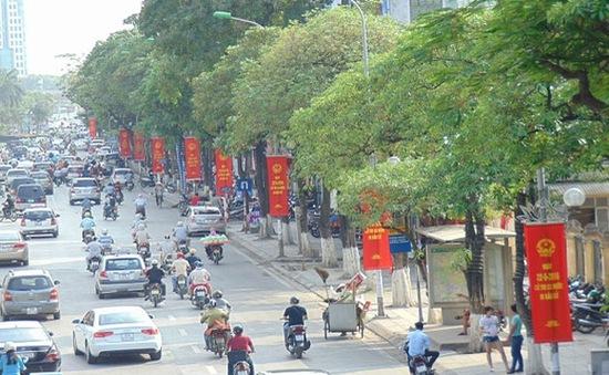 100% quân số CSGT Hà Nội đảm bảo an toàn giao thông ngày bầu cử