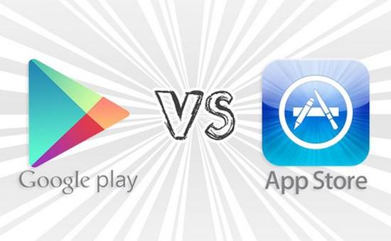 """Kho ứng dụng di động Google Play tiếp tục """"thống trị"""" về số lượt tải"""