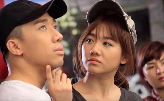 Hari Won siêu nhắng bên Trấn Thành ở hậu trường phim ma