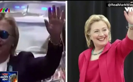 Ầm ĩ chuyện bà Hillary Clinton nhờ người đóng thế