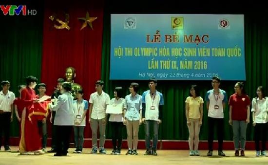 Hội thi Olympic Hóa học sinh viên toàn quốc có 30 giải nhất