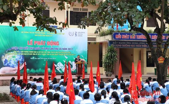 Nghệ An: Phát động cuộc thi viết thư quốc tế UPU năm 2017