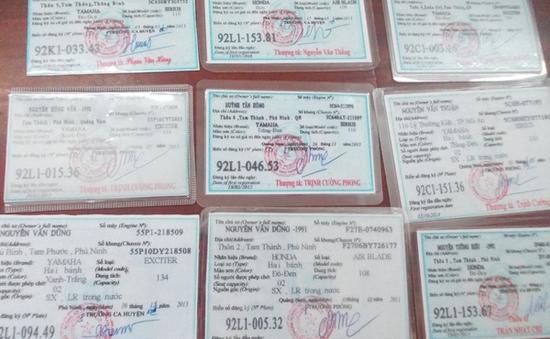 Quảng Nam: Phá đường dây làm giả giấy tờ xe máy