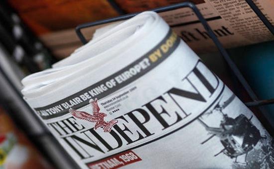 Báo Độc lập của Anh xuất bản số báo in cuối cùng