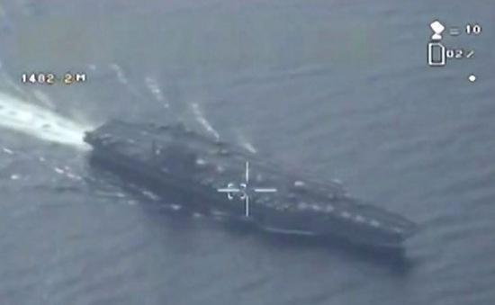 Iran công bố video do thám tàu sân bay Mỹ