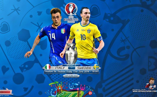 Lịch trực tiếp EURO 2016 ngày 17/6 và 18/6: Italy – Thuỵ Điển, ĐKVĐ Tây Ban Nha gặp Thổ Nhĩ Kỳ
